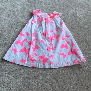 White With Pink Butterfly's Dress 12-18